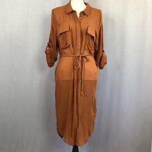 Free People (M) Utility Pocket Dress